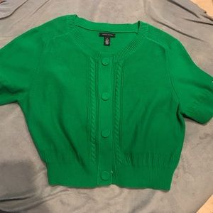 XL Tommy Hilfiger cropped sweater 80's NWOT green